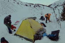 Лагерь на Баром-Голе. Утро